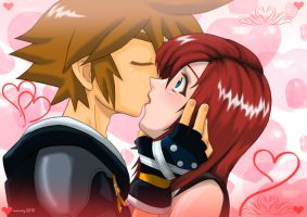 kingdom hearts love by mauroz