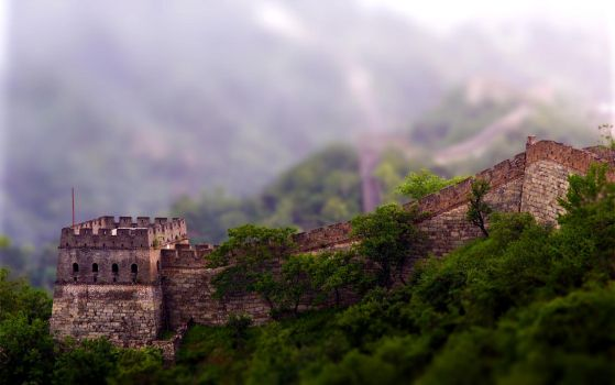 Tiltshift Great Wall of China by Lagnar2010