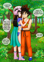 Commission - Goku and Chichi 2 by YuiHoshi