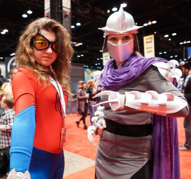 C2E2 Spidy and Shredder by SirKirkules