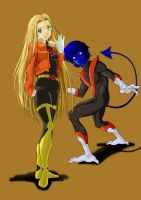Carolynne and Nightcrawler by chou-roninx