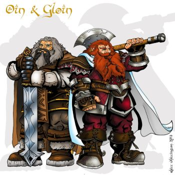 Oin and Gloin by whittingtonrhett