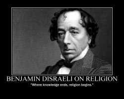 Benjamin Disraeli on Religion by fiskefyren