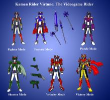 Kamen Rider Virtune All Forms (Modes) by RukaMilda