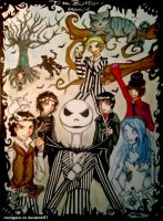 Tim Burton's world by morugane