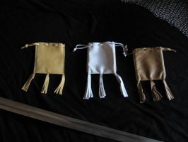 Small medieval leather pouches by Arnakhat