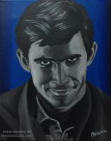 Wouldn't Harm a Fly - Norman Bates Portrait by miz-mezzy