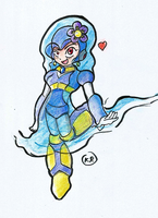 Flowwoman (customised robot master) by Kalsuruby