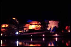 Canberra At Night - Nat. Museum of Australia by ArtByTash