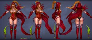 Valeera 3D preview by itzaspace