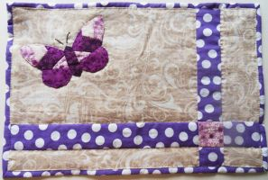 Placemat with butterfly by Dilletant1