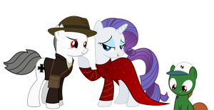 Wally Jones with Rarity and tommy by BRONYVAGINEER