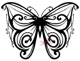butterfly tattoo design by dragonflyblues