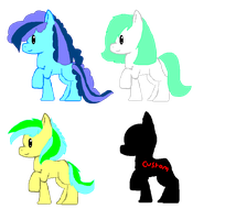 Earth Pony Adopts .:Now Free!!:. by paragonthapuppy