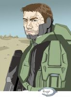 Master Chief Unmasked by Ruze789
