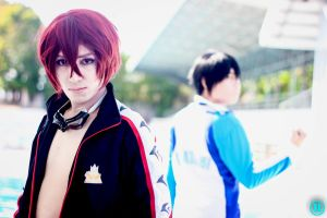 Swimming Rivals - Rin X Haru by Hisui-Facist