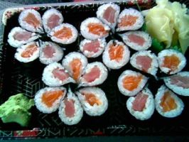 Sushi Flowers by Sapphire911