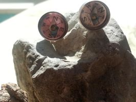 Compass Earrings Hypoallergenic real working mini by artistiquejewelry