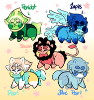 Reptaline adopt Batch: Steven Universe 1 LEFT by sariasong64