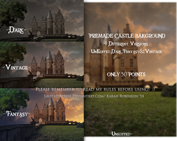 Castle Premade Pack by KarahRobinson-Art
