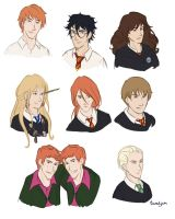 Harry Potter Characters by taratjah