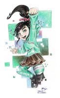 Vanellope (or 'The Glitch') by Lilinanana86