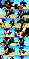 Ivan and Shadow fight over Sonic comic by SonicInflationLover