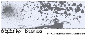 Splatter Brushes by pinkshadoww