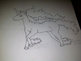 Rapidash in Progress by Blancoart89