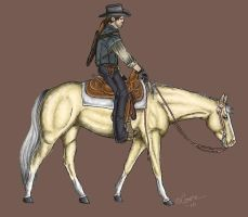 Marston and his trusty steed by Hallatar