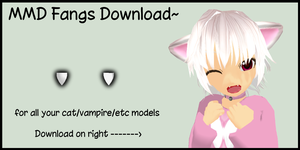 MMD Vampire Fangs Download by Trippy-Rabbit