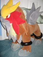 A Wild Giant Entei Plush Appeared by MizukiiMoon