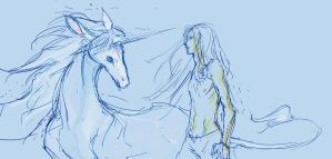 A unicorn and ... a virgin by beanclam