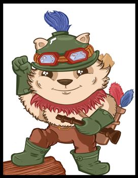 Captain Teemo on Duty! by JuMoInvasion