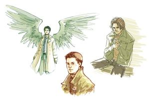 Supernatural sketches 22.12.11 by Anaeolist