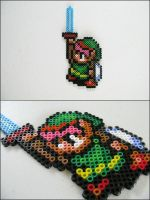 Link holding sword bead sprite by 8bitcraft
