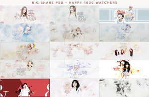 [STOP SHARING] BIG SHARE PSD - HAPPY 1000 WATCHERS by yunniejacksonyi