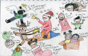 Choji Claus and Jingle Butts by KayleeInuzuka