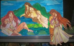 Makiling Miniature Study by tonieliemariae