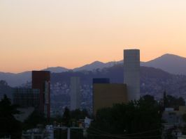 torres de satelite sunset by charlieest