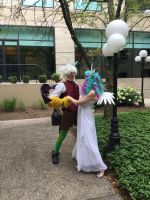 Discord and Celestia in the Park by DiscordIsMagic