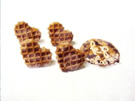 waffle earrings by KPcharms