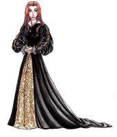 Princess Elizabeth in black by Fidi-s-Art
