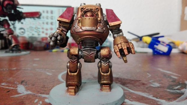 Adeptus Custodes Dreadnought  by Adeptussolus