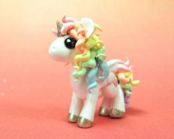 Pastel Rainbow Unicorn by DragonsAndBeasties
