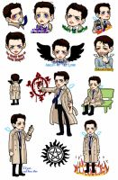 Castiel sticker by glaringstar