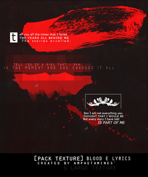[PACK TEXTURE] Blood and Lyrics by amphetamines' by DAMIANsoul