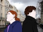 The consulting detective and the girl, realistic by xiximagicramen