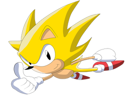Super Sonic -Classic_ by Krizeii