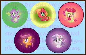 Pony Buttons (Series Two) by LinksLove